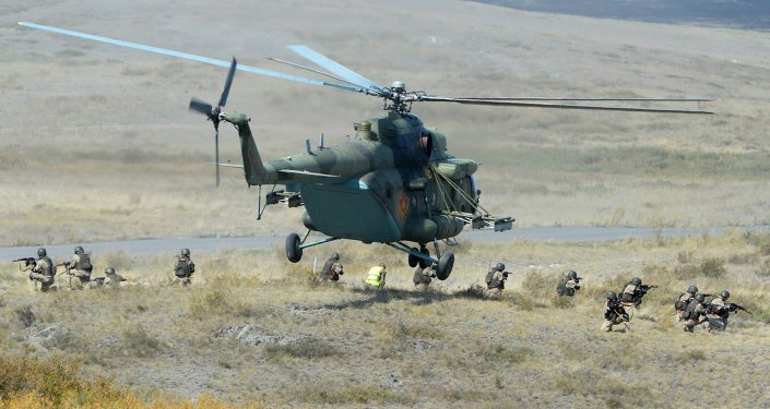 قوات منظمة الأمن الجماعي في تدريب