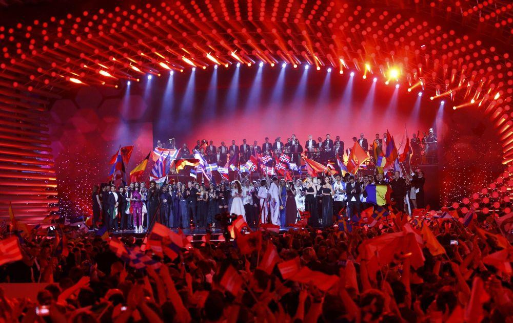 مسرح الحفل النهائي للأغنية الأوروبية لعام 2015 في فيينا.