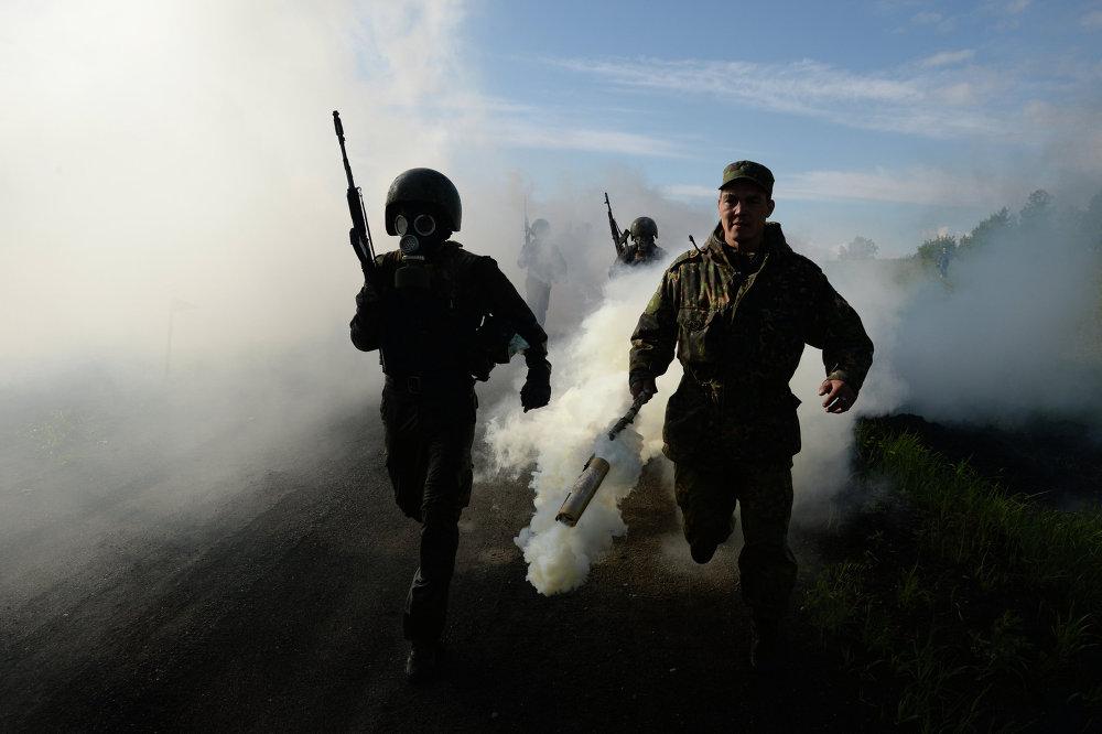 إختبارات القوات الخاصة الروسية لإرتداء قبعة المارون فى نوفوسيبيريسك