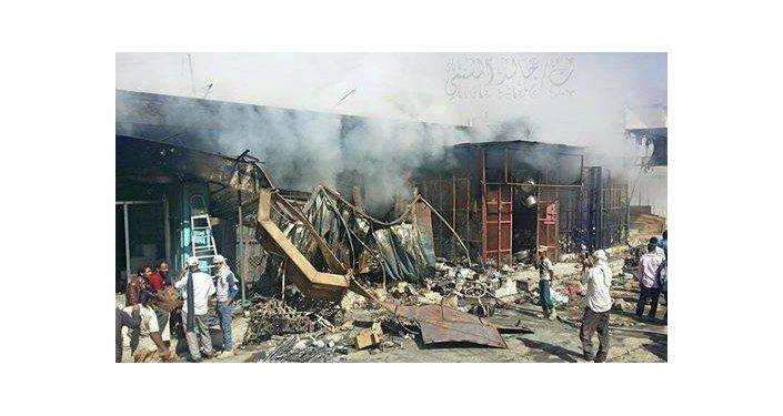 أثار الدمار فى مدينة الضالع اليمنية