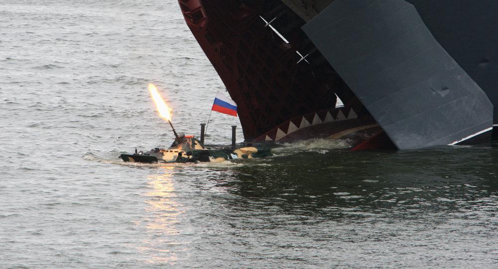 صورة أرشيفية لقوات الانزال البحري الروسية