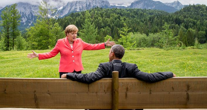 أوباما وميركل