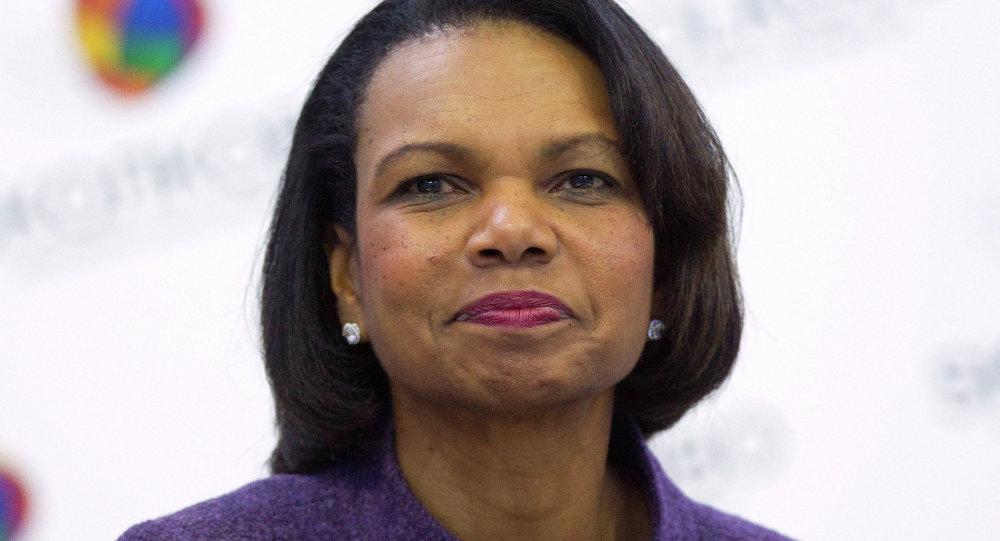 كوندوليزا رايس، وزيرة الخارجية الأمريكية سابقا