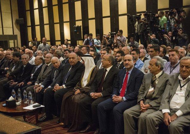 أجتماع اطراف من المعارضة السورية في القاهرة