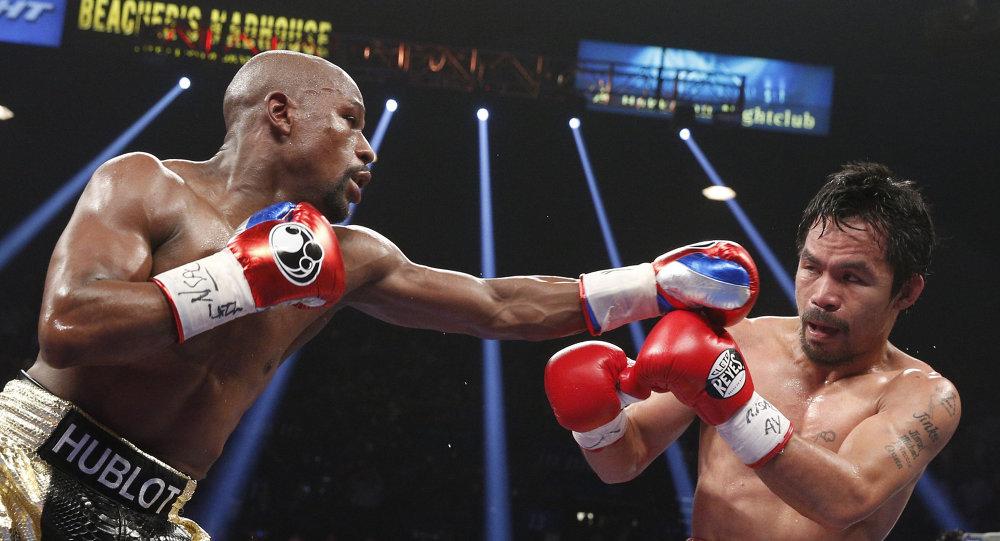 الملاكم الأمريكي فلويد مايويذر ضد الملاكم الفلبيني ماني باكياو