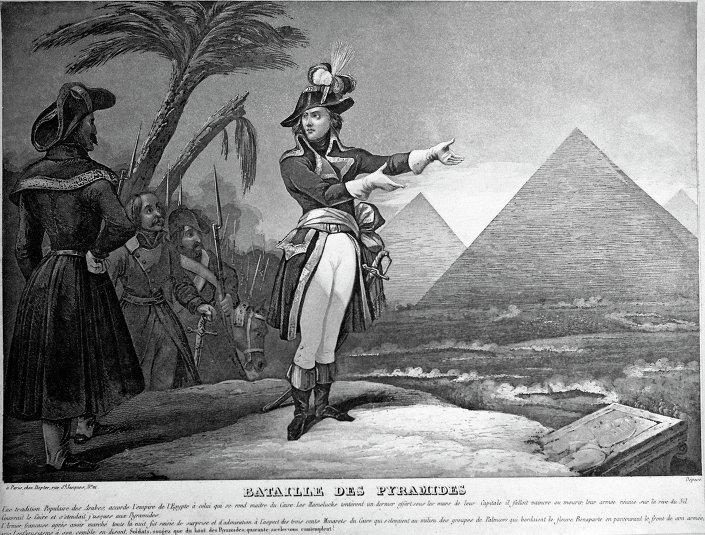 لوحة الإمبراطور نابليون بونابرت في مصر