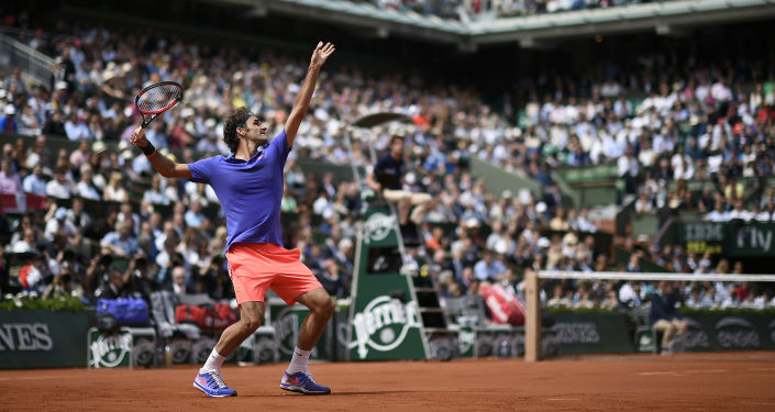لاعب التنس السويسري روجر فيدرير