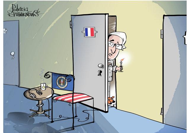 فضيحة تجسس أمريكا على المكالمات الهاتفية لفرانسوا هولاند