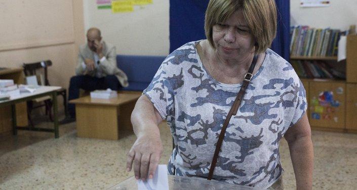 التصويت في اليونان