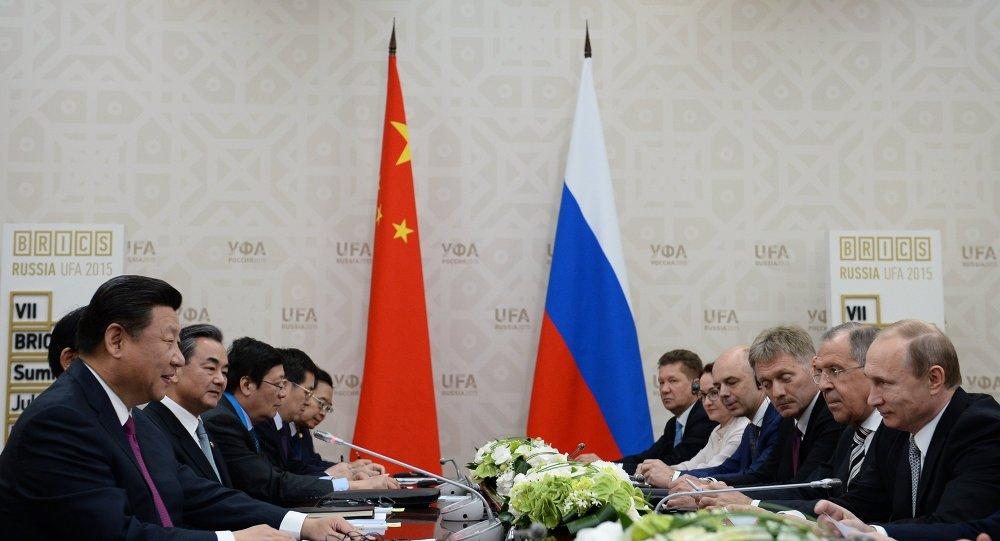 لقاء الزعيمين الروسي والصيني في مدينة أوفا