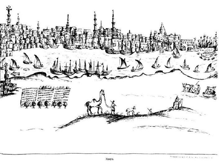 بانوراما لمدينة القاهرة ترجع لعام 1727م ، جريجوريفيتش-بارسكي