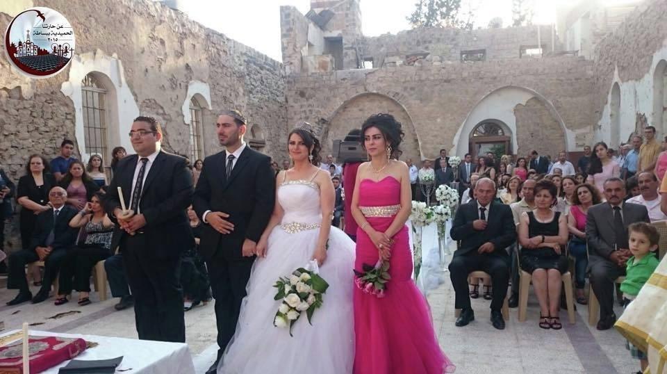 فادي سويد ورنا مخول أعلنا زواجهما  تحت نار الحرب