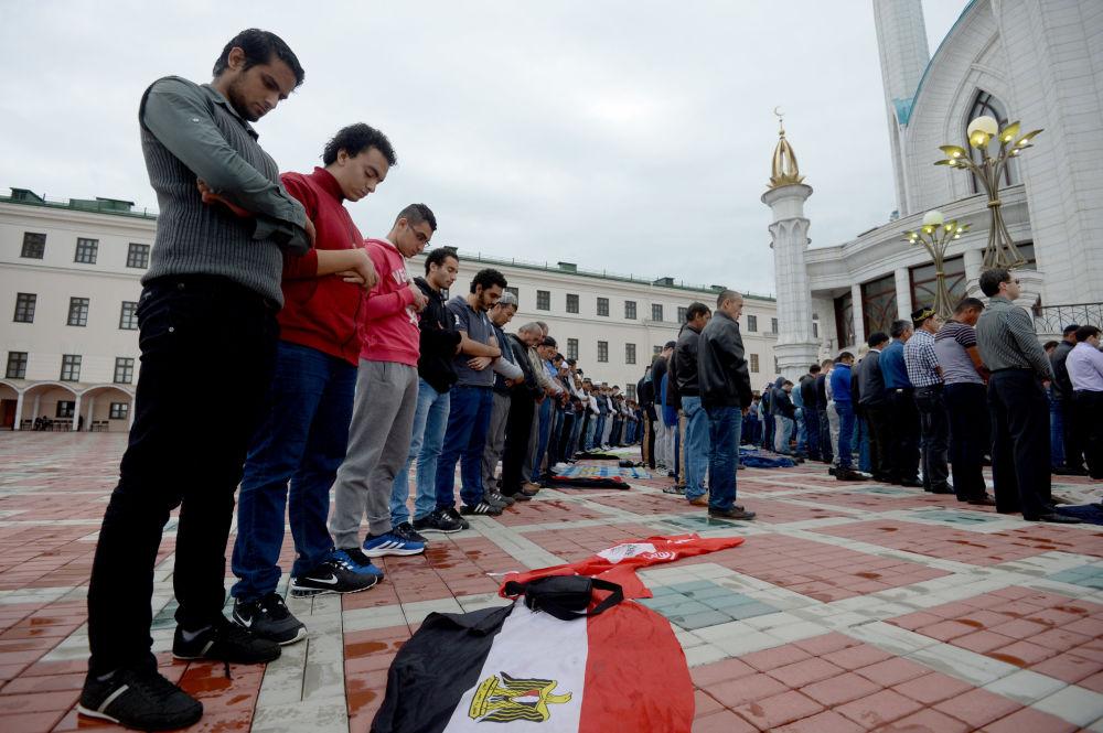 صلاة العيد فى مدينة قازان فى روسيا