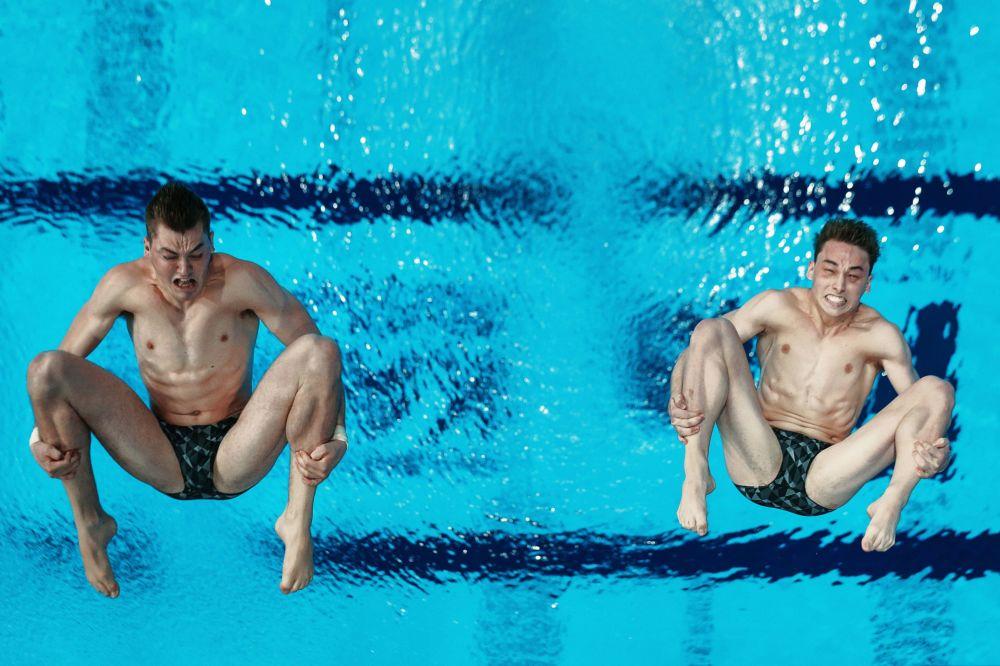 السباحين المشاركين فى الدور التمهيدى فى بطولة العالم للألعاب المائية