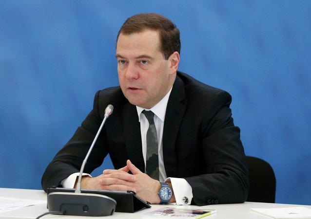 رئيس وزراء روسيا دميتري ميدفيديف