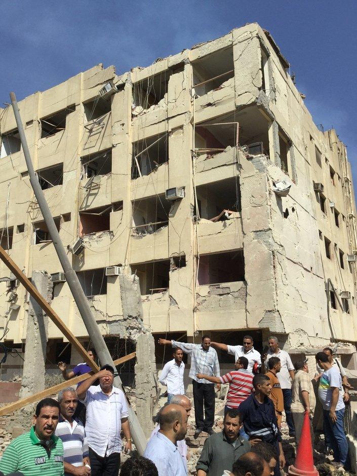 تفجير مبنى الأمن الوطني بمطقة شبرا الخيمة
