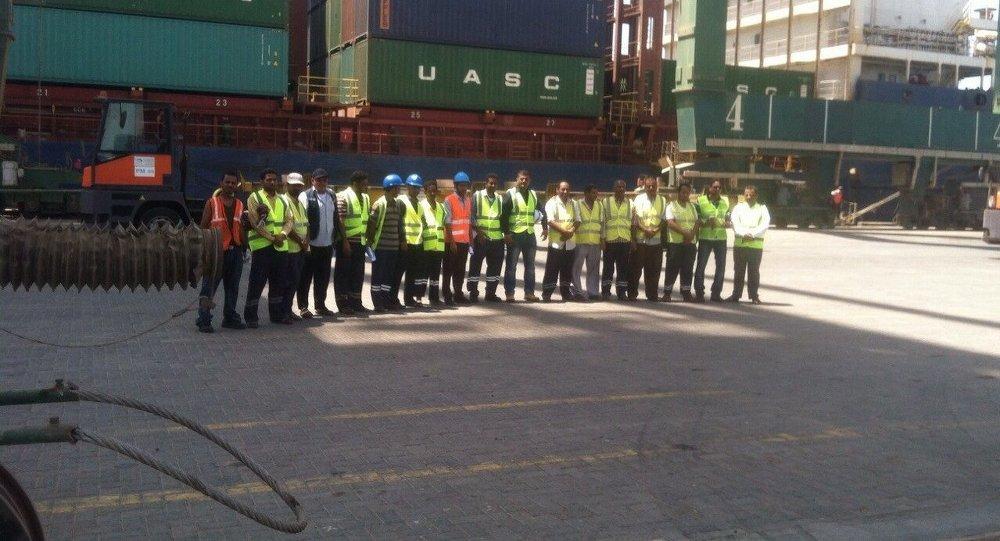 محطة الحاويات بميناء عدن