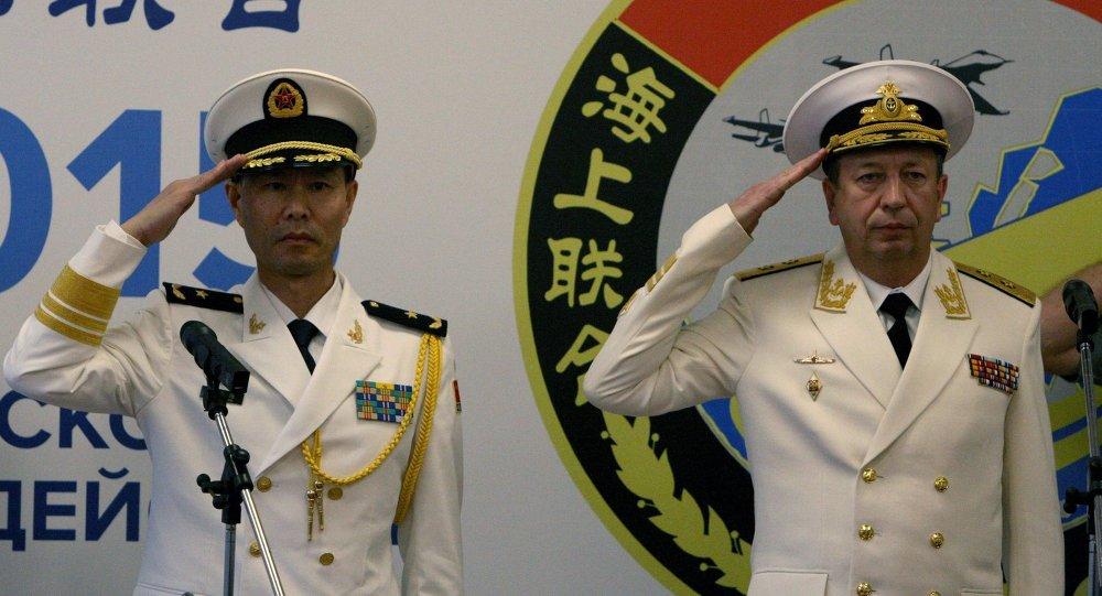 المناورات الروسية الصينية البحرية المشتركة في بريموريه
