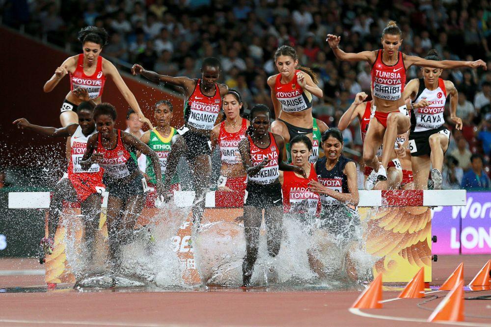 سباق 3000 متر موانع للنساء في بطولة العالم لألعاب القوى 2015 في بكين
