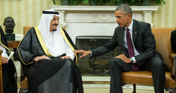 خادم الحرمين الشريفين الملك سلمان و الرئيس الامريكي باراك أوباما