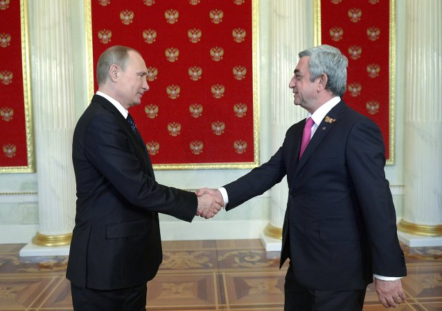 بوتين ياتقي الرئيس الأرمني سيرج ساركسيان