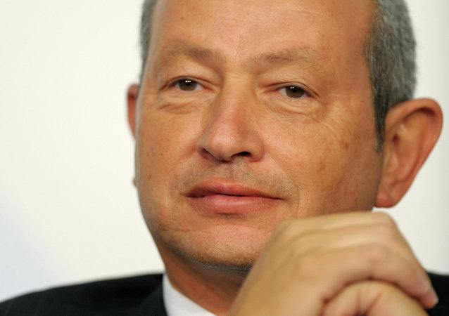 الملياردير المصري ورجل الأعمال نجيب ساويرس