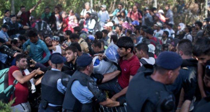 مهاجرون على الحدود الكرواتية
