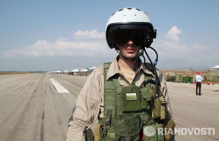 طيار مقاتل روسي في سوريا