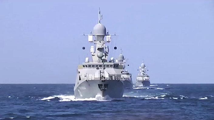 سفن أسطول بحر قزوين التي اطلقت صواريخ على سورية