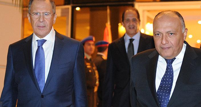 وزيرا خارجية روسيا ومصر سيرغي لافروف وسامح شكري
