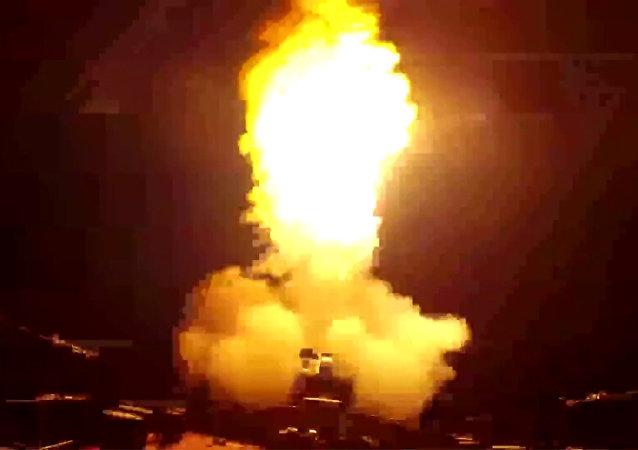 أسطول بحر قزوين يطلق صواريخ على مواقع داعش في سوريا
