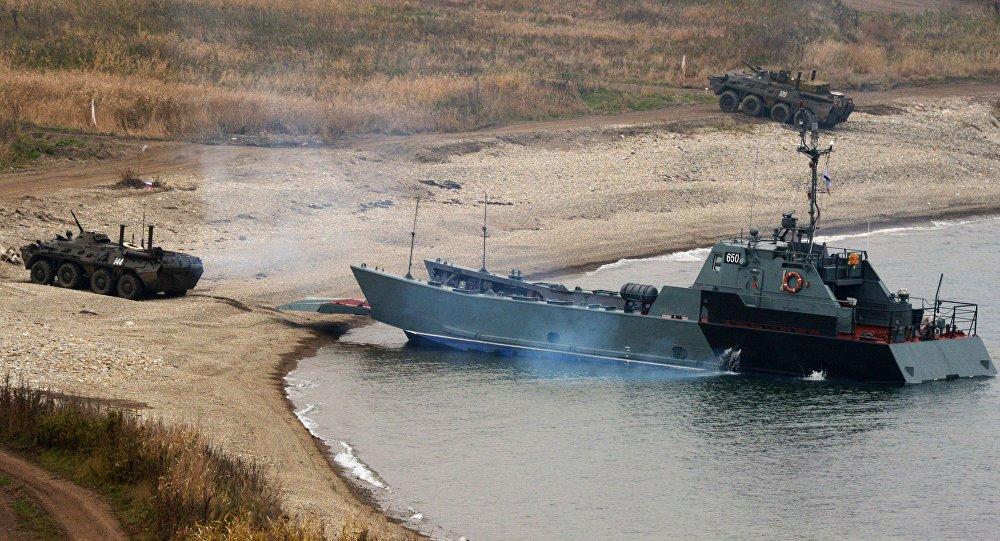 تدريبات مشاة البحرىة الروسية