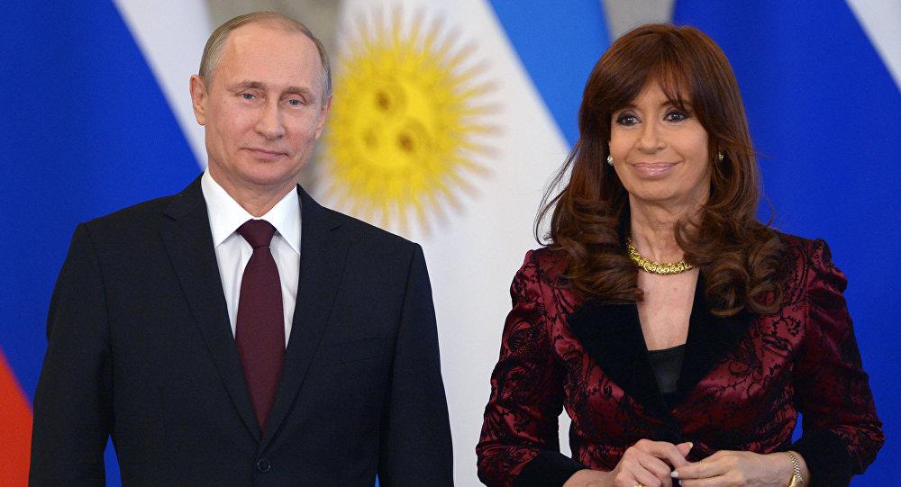 لقاء الرئيس الروسي بوتين والرئيسة الأرجنتينية كيرشنر