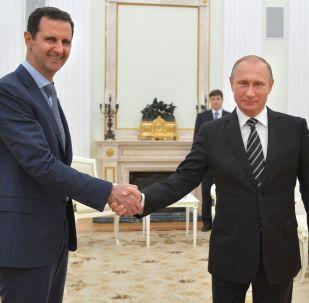 Президент Сирии Башар Асад и президент России Владимир Путин на встрече в Кремле