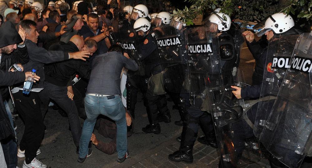 مظاهرات في الجبل الأسود