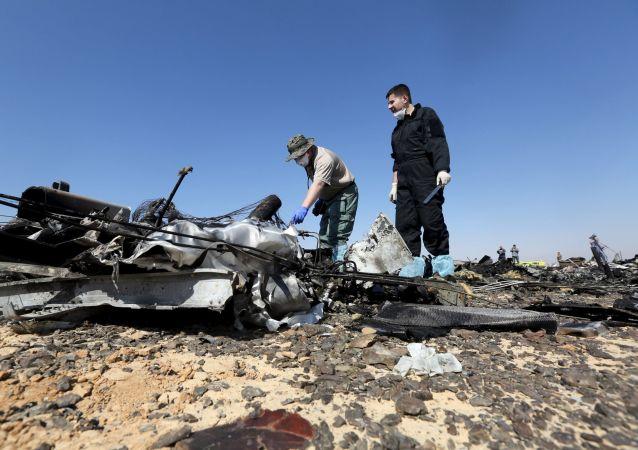 مكان سقوط الطائرة الروسية في سيناء