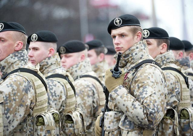 جنود لاتفيين