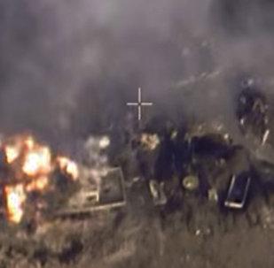 الطيران الروس يقصف مواقع تنظيم الدولة الإسلامية في سوريا