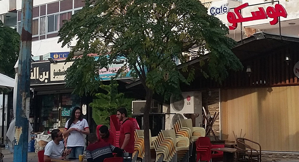 مقهى موسكو في اللاذقية