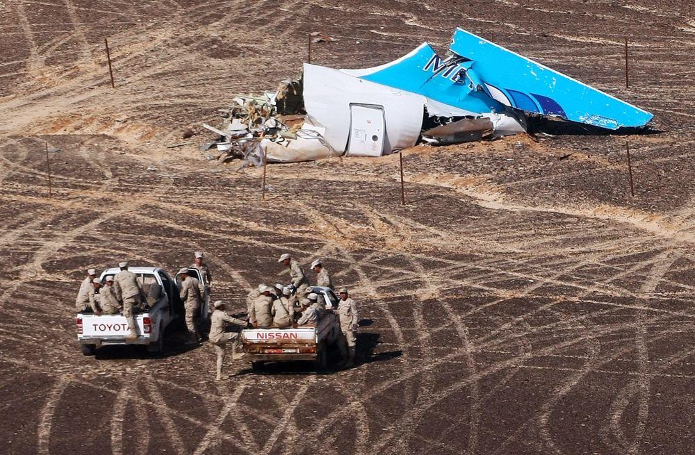 موقع تحطم الطائرة الروسية المنكوبة Airbus A321 في سيناء