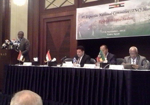 وزراء الموارد المائية في مصر والسودان وإثيوبيا