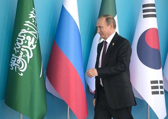 الرئيس فلاديمير بوتين في قمة مجموعة العشرين