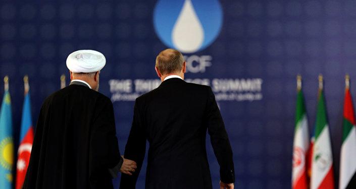 الرئيس فلاديمير بوتين وروحاني