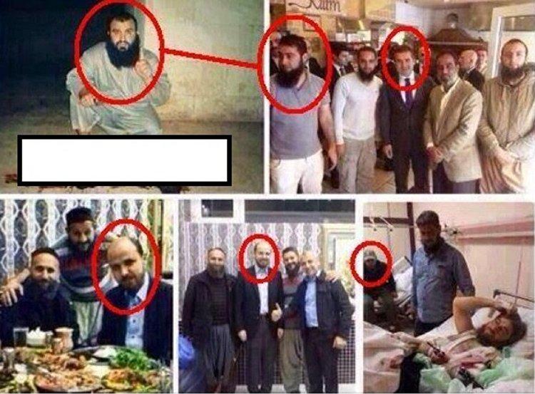 نجل أردوغان مع قيادات التنظيم الإرهابي