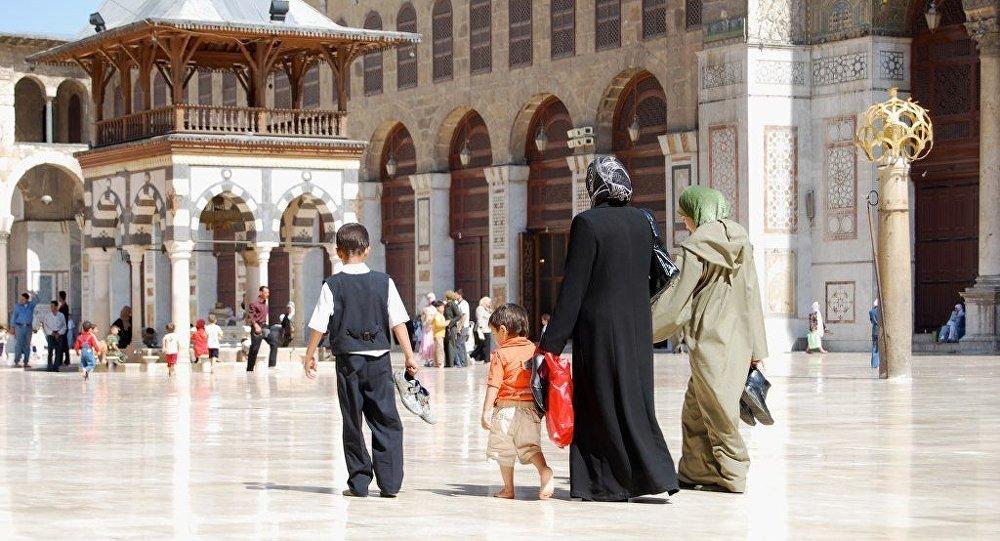 الجامع الأموي في دمشق.