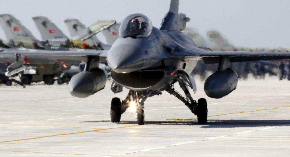 مقاتلة اف 16 تابعة سلاح الجو التركي