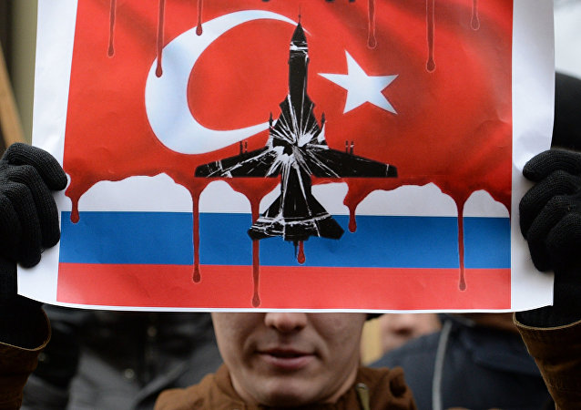 مظاهرات في موسكو ضد تركيا