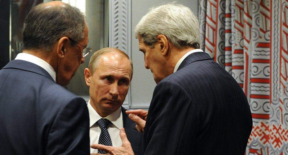 بوتين ولافروف وكيري