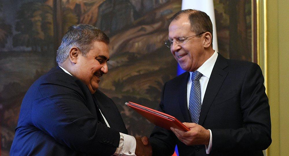 سيرغي لافروف مع خالد بن أحمد آل خليفة