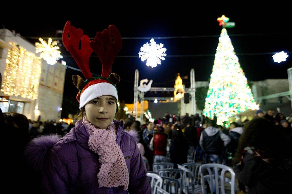 الفلسطينيون يستعدون لاستقبال عيد الميلاد المجيد في بيت لحم